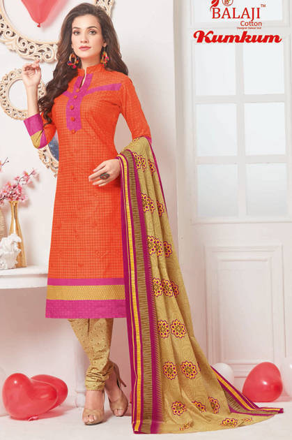 Balaji Cotton Kumkum Vol 15 Salwar Suit Wholesale Catalog 20 Pcs