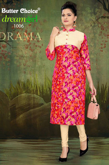 Butter Choice Dream Girl Vol 1 Kurti Wholesale Catalog 12 Pcs