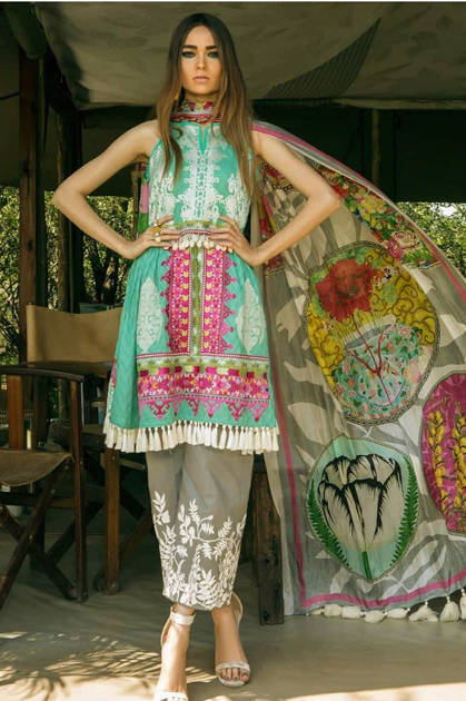 Deepsy Sana Safinaz Premium lawn Collection Salwar Suit Wholesale Catalog 8 Pcs