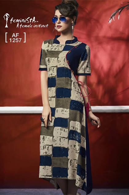 Feminista Fashion Glamitude Kurti Wholesale Catalog 10 Pcs