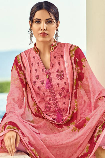 House Of Lawn Muslin Vol 8 Lawn Cotton Collection Karachi Salwar Suit Wholesale Catalog 10 Pcs