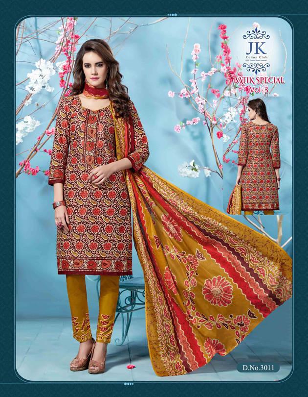 7f18549f7f Jk Batik Special Vol 3 Salwar Suit Wholesale Catalog 12 Pcs (12 ...