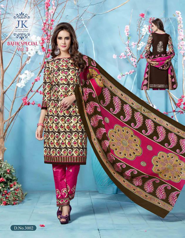 b0a6aaf22b Jk Batik Special Vol 3 Salwar Suit Wholesale Catalog 12 Pcs (3 ...