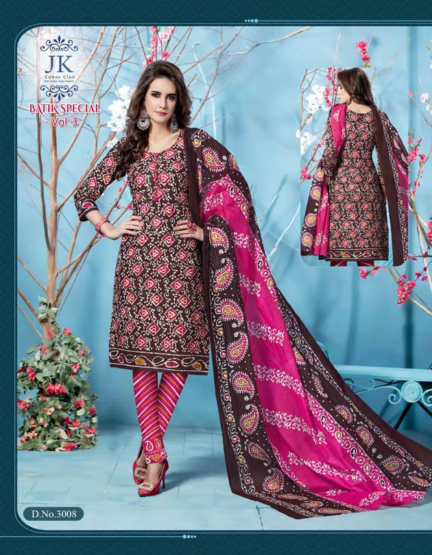57bc081ef2 Jk Batik Special Vol 3 Salwar Suit Wholesale Catalog 12 Pcs (9 ...