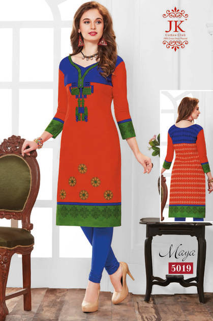 Jk Maya Vol 5 Kurti Wholesale Catalog 20 Pcs