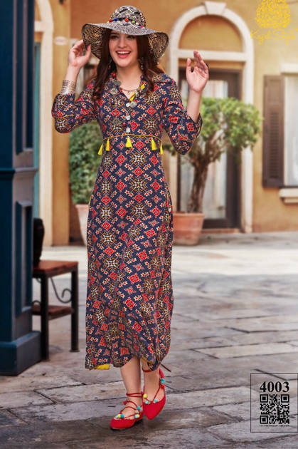 Kajal Style Fashion Femina Vol 4 Kurti Wholesale Catalog 12 Pcs