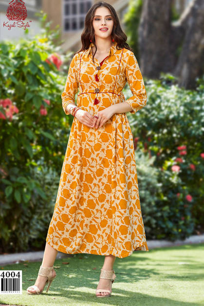 Kajal Style Fashion Galleria Vol 4 Kurti Wholesale Catalog 12 Pcs