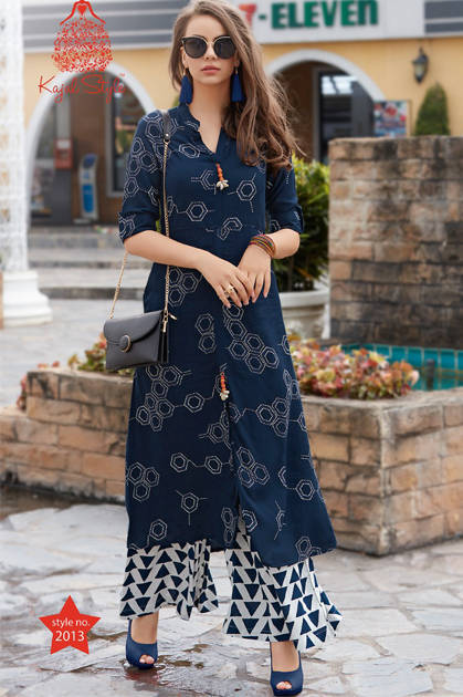 Kajal Style Fashion Studio Vol 2 Kurti Wholesale Catalog 16 Pcs