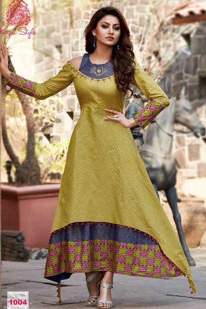 Kajal Style Mumtaz Vol 1 Kurti Wholesale Catalog 8 Pcs