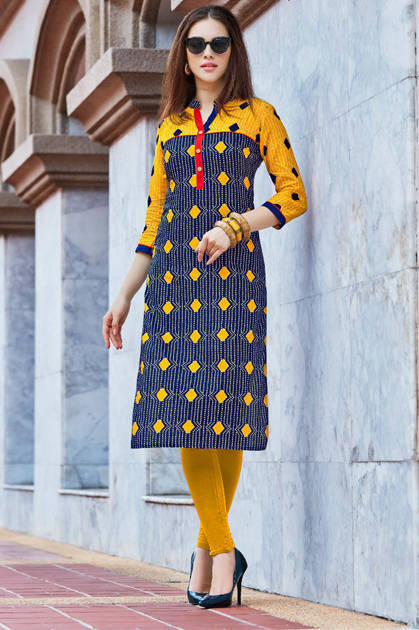 Kajal Style Town Beauty Vol 6 Kurti Wholesale Catalog 12 Pcs