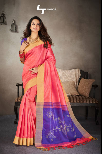 Lt Fabrics Crystal Saree Sari Wholesale Catalog 10 Pcs