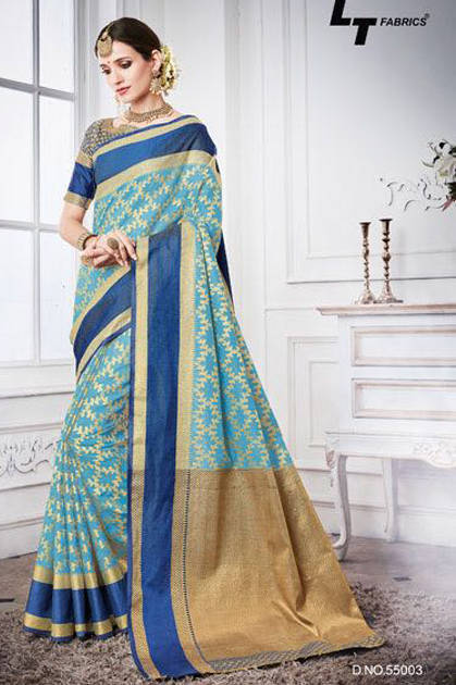 Lt Fabrics Exora Saree Sari Wholesale Catalog 10 Pcs