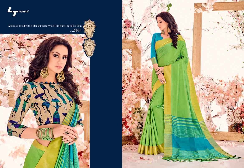 Lt Fabrics Madhubani Vol 2 Double Blouse Saree Sari Wholesale Catalog 10 pcs 4 - Lt Fabrics Madhubani Vol 2 Double Blouse Saree Sari Wholesale Catalog 10 pcs