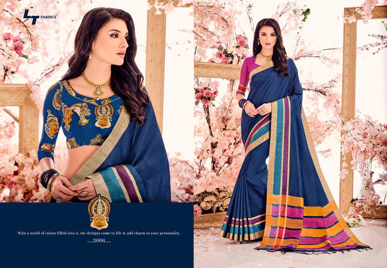 Lt Fabrics Madhubani Vol 2 Double Blouse Saree Sari Wholesale Catalog 10 pcs 7 - Lt Fabrics Madhubani Vol 2 Double Blouse Saree Sari Wholesale Catalog 10 pcs
