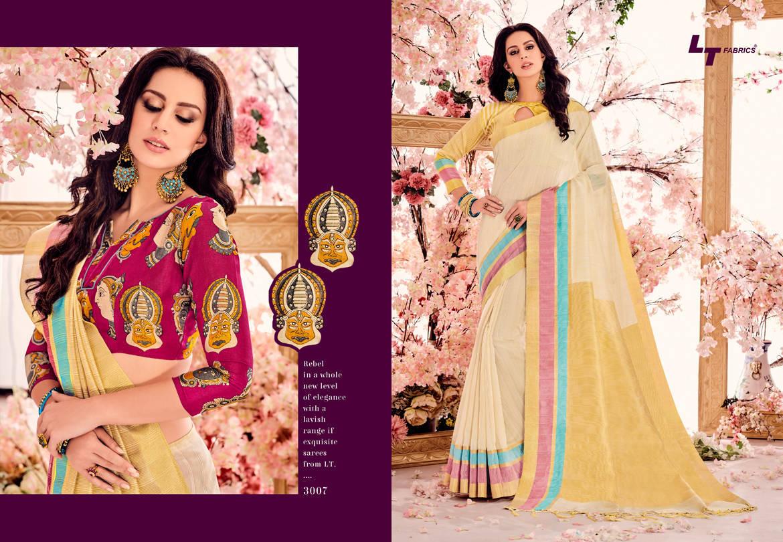 Lt Fabrics Madhubani Vol 2 Double Blouse Saree Sari Wholesale Catalog 10 pcs 8 - Lt Fabrics Madhubani Vol 2 Double Blouse Saree Sari Wholesale Catalog 10 pcs