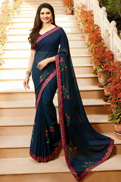 Vinay Sheesha Star Walk 34 Prachi Desai Saree Sari Wholesale Catalog 10 Pcs