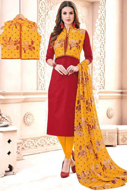 AVC Blezer Salwar Suit Wholesale Catalog 11 Pcs