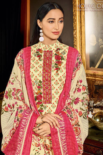House Of Lawn Muslin Vol 10 Lawn Cotton Collection Karachi Salwar Suit Wholesale Catalog 10 Pcs