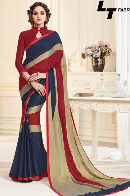 Lt Fabrics Temptation Saree Sari Wholesale Catalog 10 Pcs