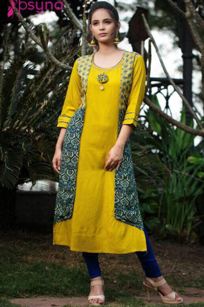 Psyna Parishe Kurti Wholesale Catalog 7 Pcs