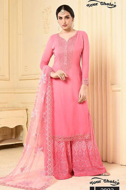 Your Choice Lasha Salwar Suit Wholesale Catalog 4 Pcs