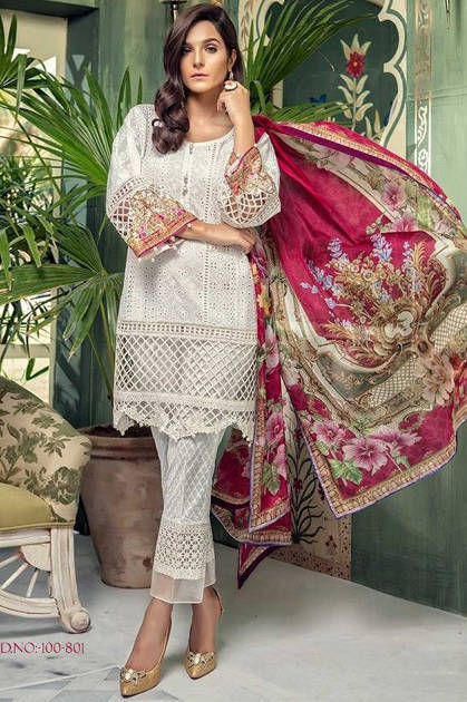 Deepsy Maria B Vol 4 Salwar Suit Wholesale Catalog 6 Pcs