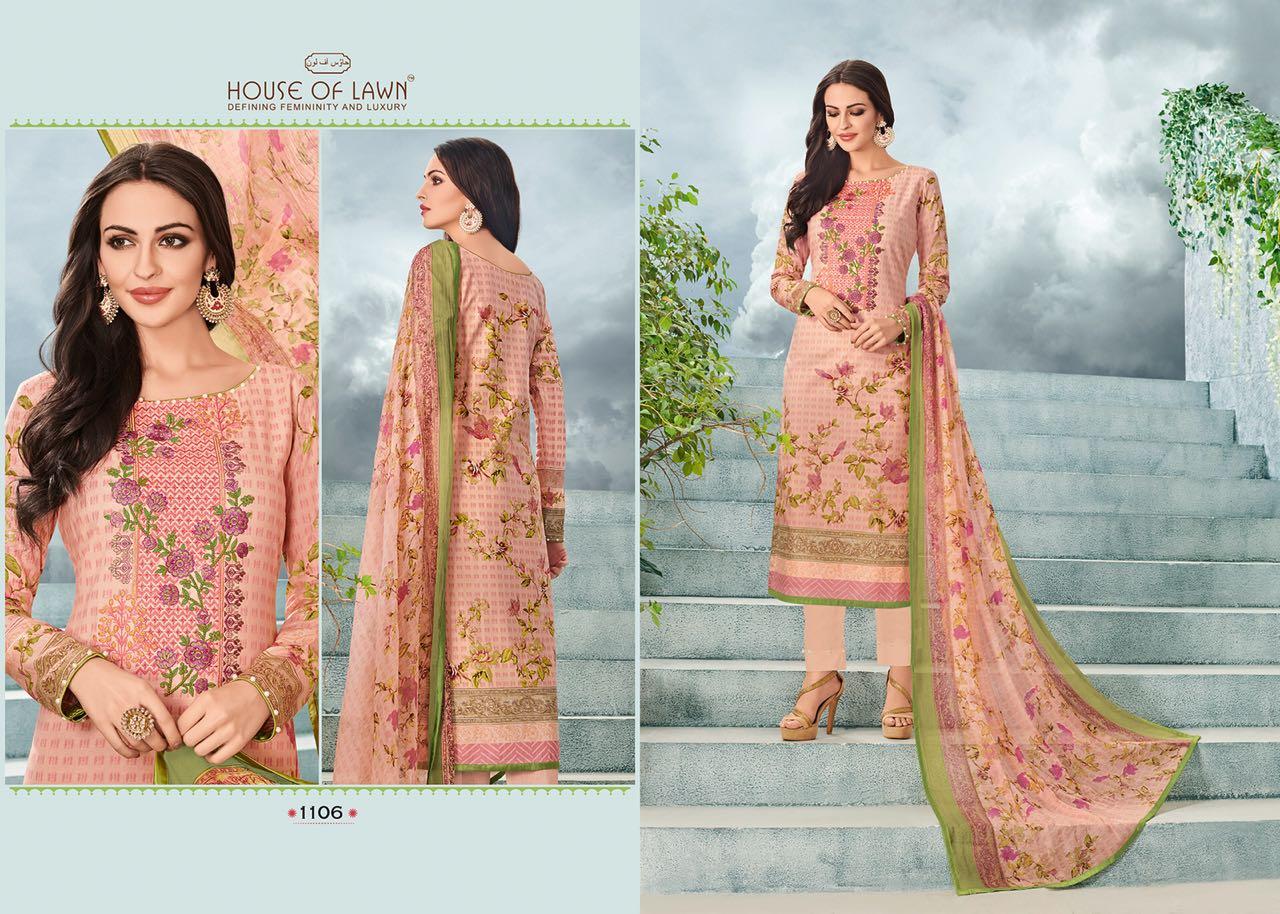 House Of Lawn Muslin Vol 11 Lawn Cotton Collection Karachi Salwar Suit Wholesale Catalog 10 Pcs 11 - House Of Lawn Muslin Vol 11 Lawn Cotton Collection Karachi Salwar Suit Wholesale Catalog 10 Pcs