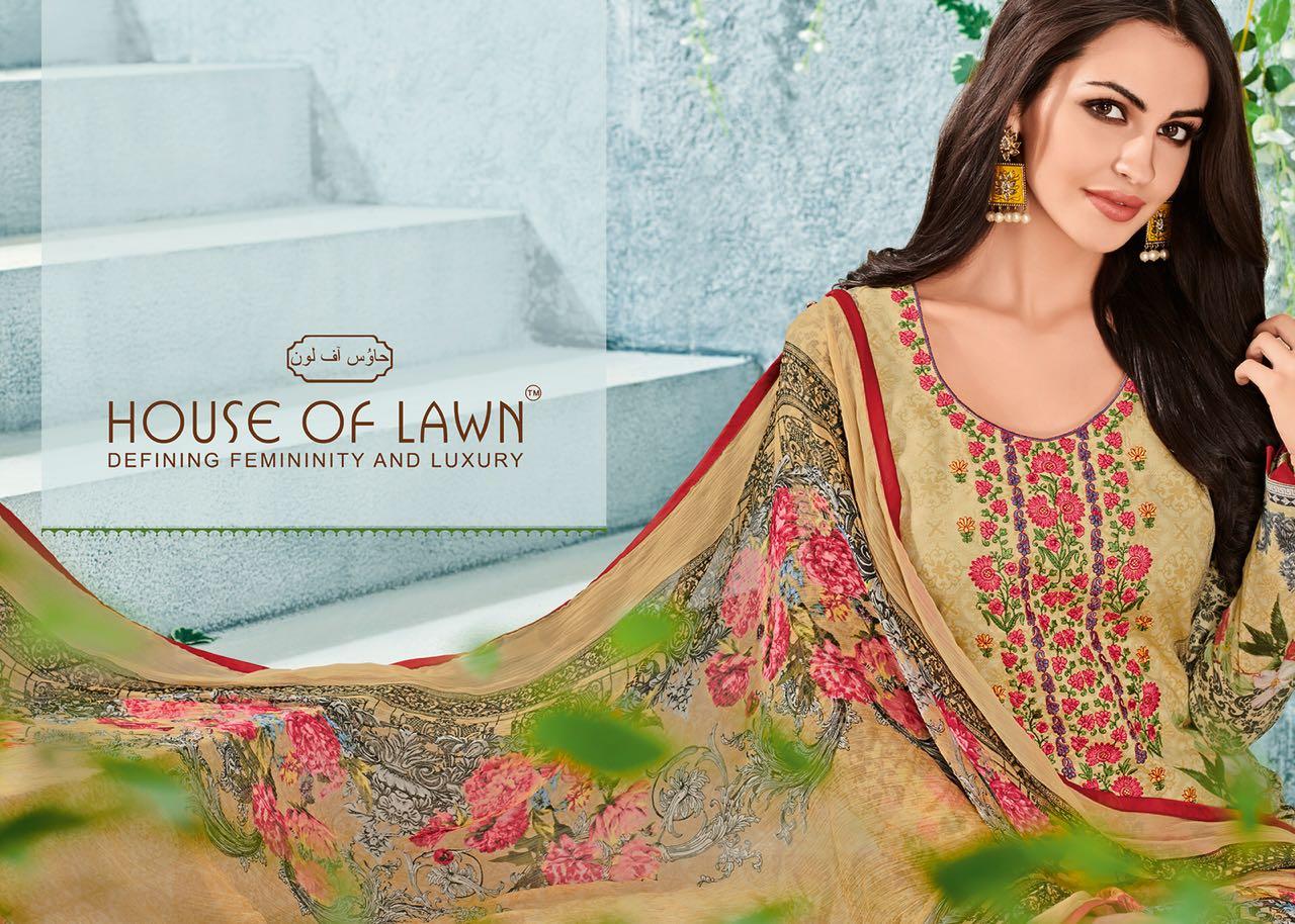 House Of Lawn Muslin Vol 11 Lawn Cotton Collection Karachi Salwar Suit Wholesale Catalog 10 Pcs 15 - House Of Lawn Muslin Vol 11 Lawn Cotton Collection Karachi Salwar Suit Wholesale Catalog 10 Pcs