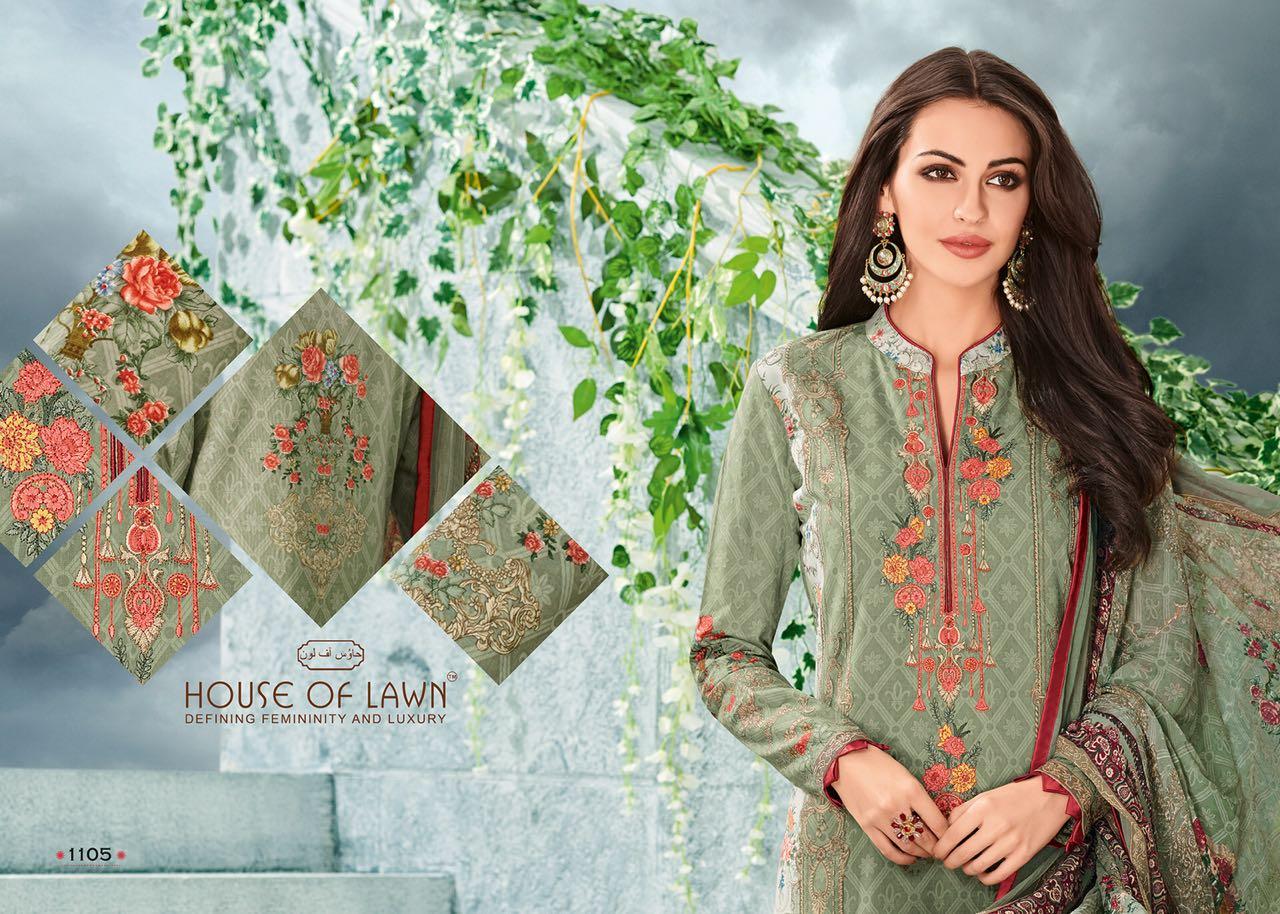 House Of Lawn Muslin Vol 11 Lawn Cotton Collection Karachi Salwar Suit Wholesale Catalog 10 Pcs 6 - House Of Lawn Muslin Vol 11 Lawn Cotton Collection Karachi Salwar Suit Wholesale Catalog 10 Pcs