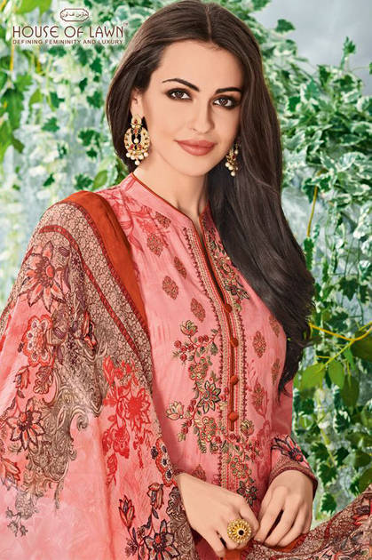 House Of Lawn Muslin Vol 11 Lawn Cotton Collection Karachi Salwar Suit Wholesale Catalog 10 Pcs