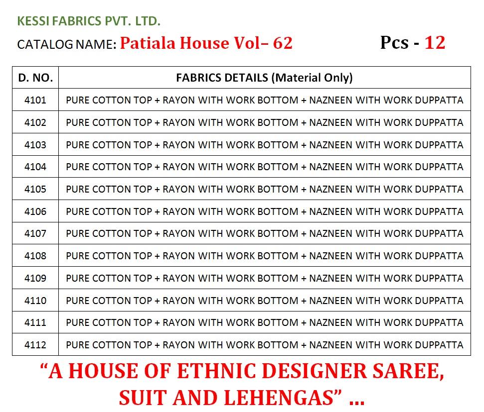 Kessi Patiyala House Vol 62 Salwar Suit Wholesale Catalog 12 Pcs 3 - Kessi Patiyala House Vol 62 Salwar Suit Wholesale Catalog 12 Pcs