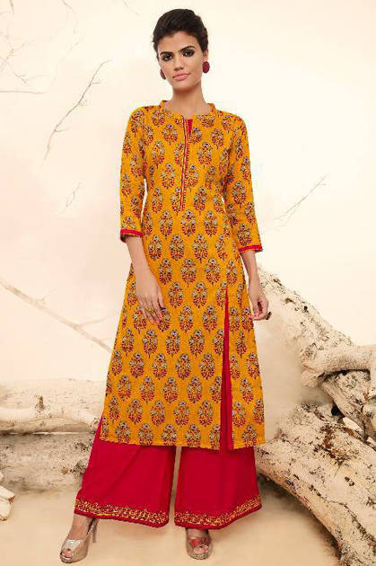 Kessi Rangoon Victoria Kurti with Plazzo Wholesale Catalog 10 Pcs