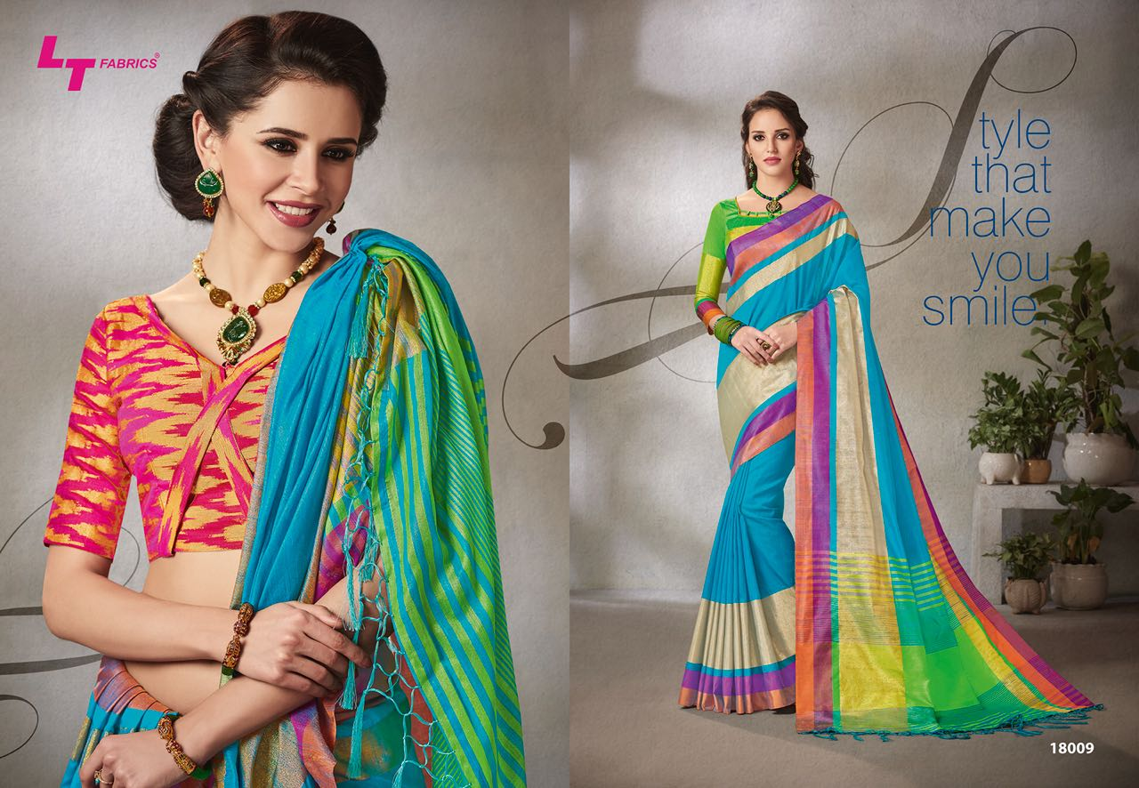 Lt Fabrics Falak Double Blouse Saree Sari Wholesale Catalog 10 pcs 10 - Lt Fabrics Falak Double Blouse Saree Sari Wholesale Catalog 10 pcs