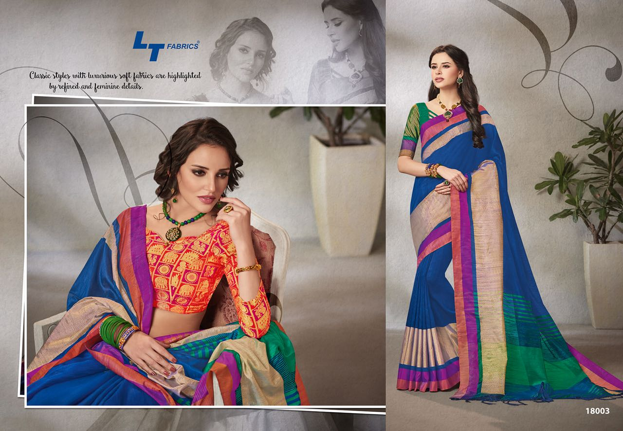 Lt Fabrics Falak Double Blouse Saree Sari Wholesale Catalog 10 pcs 3 - Lt Fabrics Falak Double Blouse Saree Sari Wholesale Catalog 10 pcs