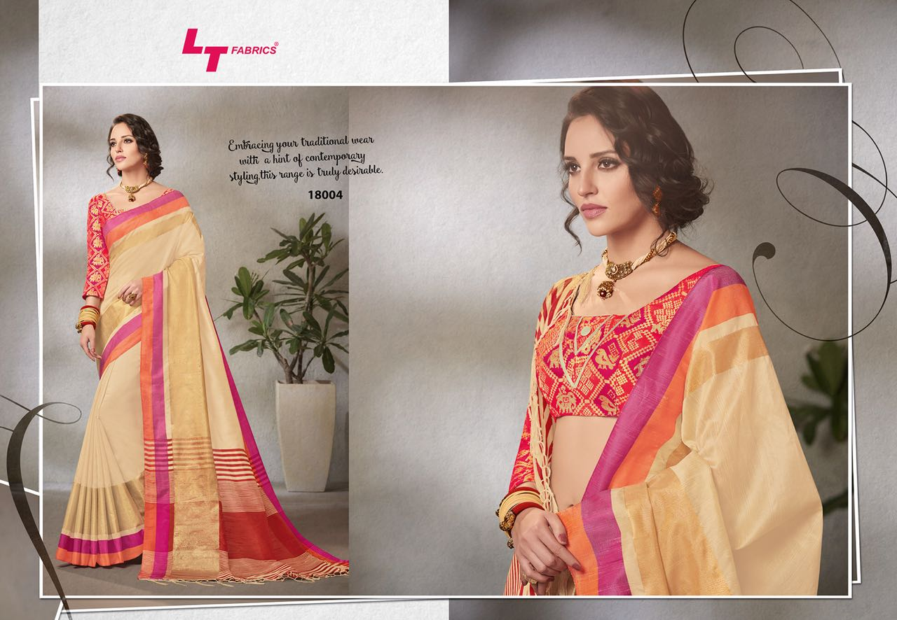 Lt Fabrics Falak Double Blouse Saree Sari Wholesale Catalog 10 pcs 4 - Lt Fabrics Falak Double Blouse Saree Sari Wholesale Catalog 10 pcs