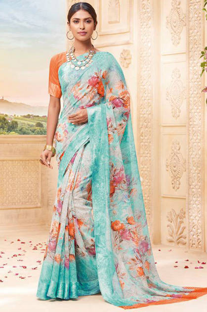 Lt Fabrics Vrinda Saree Sari Wholesale Catalog 10 Pcs
