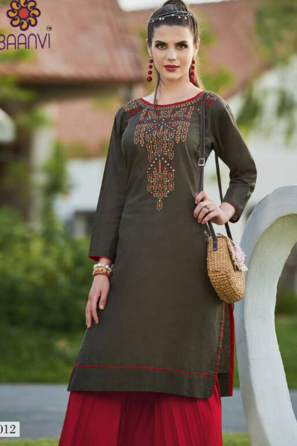 Rani Baanvi Goonj Kurti Wholesale Catalog 16 Pcs