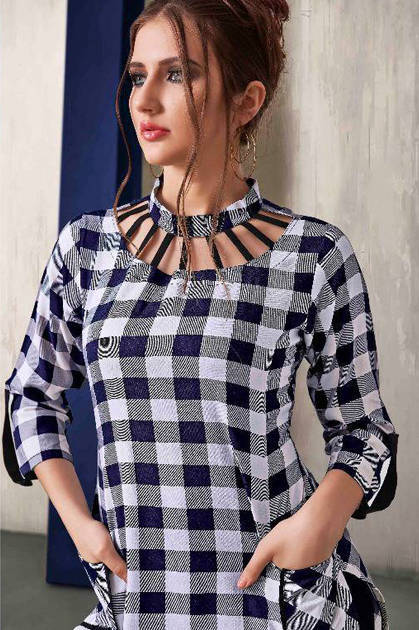 S More Checks Vol 4 Kurti Wholesale Catalog 12 Pcs