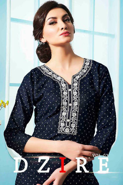 S More Dzire Vol 3 Kurti Wholesale Catalog 12 PcsS More Dzire Vol 3 Kurti Wholesale Catalog 12 Pcs