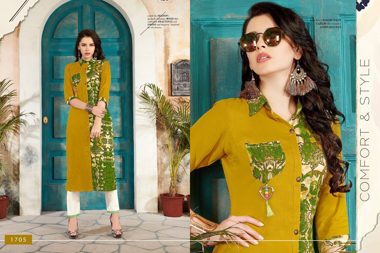 Veera Tex Pulse Kurti Wholesale Catalog 7 Pcs (1)