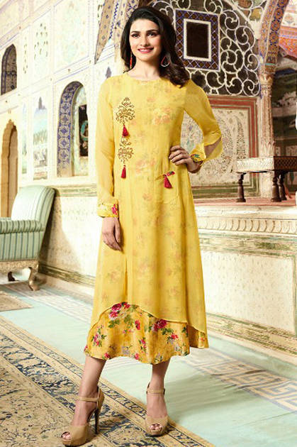 Vinay Tumbaa Monsoon Prachi Desai Kurti Wholesale Catalog 8 Pcs
