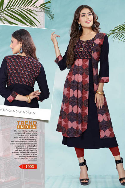Avashya Jashn Kurti Wholesale Catalog 6 Pcs