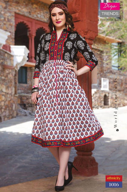 Diya Trends Ethnicity Vol 1 By Mukta Kurti Wholesale Catalog 16 Pcs