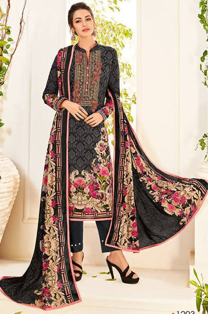 House Of Lawn Muslin Vol 12 Lawn Cotton Collection Karachi Salwar Suit Wholesale Catalog 10 Pcs