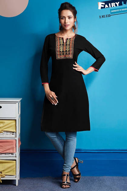 Kajree Lily Vol 10 Kurti Wholesale Catalog 12 Pcs