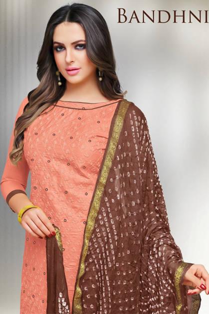 Kapil Trendz Bandhni Salwar Suit Wholesale Catalog 16 Pcs