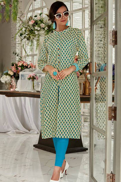 Rani Baanvi Bindu Kurti Wholesale Catalog 10 Pcs