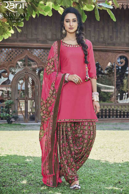 Rani Sunday Patiyala Vol 20 Nx Stitched Salwar Suit Wholesale Catalog 12 Pcs