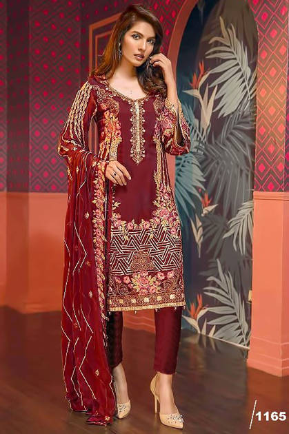 Shree Fabs Faiza Luxury Collection Vol 8 Salwar Suit Wholesale Catalog 7 Pcs