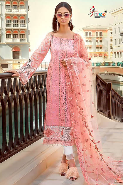 Shree Fabs Mariya B Lawn Block Buster Salwar Suit Wholesale Catalog 5 Pcs